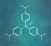 Crystal violet molecule, illustration