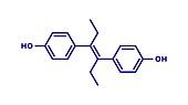 Diethylstilbestrol synthetic estrogen, illustration