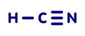Hydrogen cyanide poison molecule, illustration