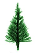 Artificial green fibre optic festive tree, X-ray