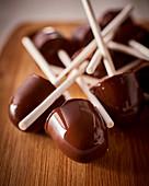Vegan chocolate lollipops