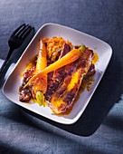 Candied pork belly with carrots