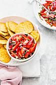 Strawberry Salsa served with Nachos chips