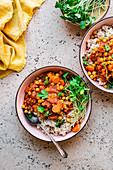 Chickpea, Carrot, and Tomato Stew