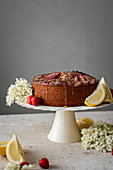 Lemon Rhubarb Cake