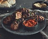 Cevapcici with Ajvar