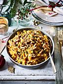 Wurzelgemüse mit Walnüssen und Muskat-Butter als Weihnachtsbeilage