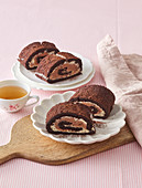 Double color chocolate roll