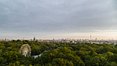 Scenic view Volkspark Friedrichshain park and Berlin cityscape, Berlin