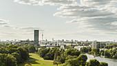 Sonnige, malerische Ansicht von Berlin, Deutschland