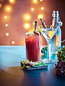 Bloody Mary mit Sherry und Bottled Dirty Martin als Weihnachtsdrinks