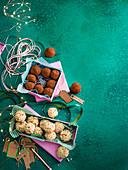 Baileys dark and white chocolate truffles