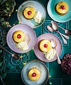 Ananas-Rum-Törtchen