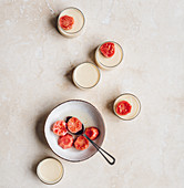Buttermilk Panna Cotta with Preserved Guava