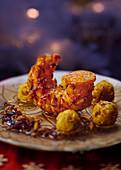 Crawfish with saffron and citrus