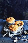 Vegetable and feta pot pies