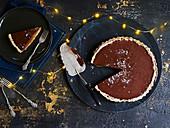 Dattel-Schokoladentarte