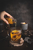 Winter tea with spices