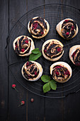 Vegan raspberry and poppy seed snails