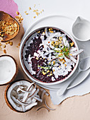 Ginger and coconut sticky black rice (Thailand)