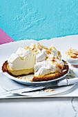 American coconut cream pie