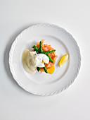 Asparagus Royale with salmon
