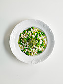Spring green and asparagus risotto