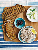 Rye bread with mackerel paté