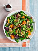 Squash and chickpea salad with raisins