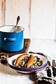 Rhineland-style kale with sausage