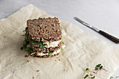 Wholegrain sandwiches with cheese