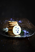 Butter Cookies with Forget Me Not Flower