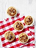 Apple muffins with nuts