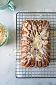 Almond cake with amaretto glaze