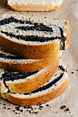 Stacked poppy seed roll