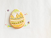 An Easter egg biscuit