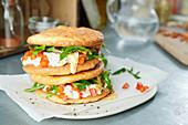 Savoury oopsie roll sandwiches