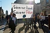 Climate Strike protest, Oxford, UK