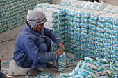 Salt packaging factory, Afghanistan