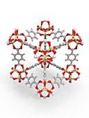 Metal-organic framework structure, molecular model