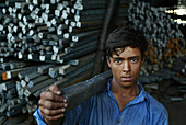 Steelworks worker, Pakistan