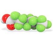 Perfluorononanoic acid molecule