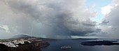 Thunderstorm over Profitis Ilias, Santorini, Greece