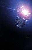 Earth-like exoplanet, illustration