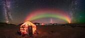 Aurora borealis and Milky Way, Greenland