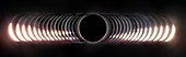 Total solar eclipse, 2nd-3rd contact, composite image