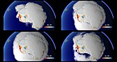 Antarctic land ice fluctuations, 1993-2017