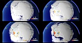 Antarctic land ice summer fluctuations, 1993-2017