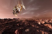 Schiaparelli ExoMars EDM lander at Mars, illustration