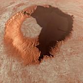 Martian surface, illustration